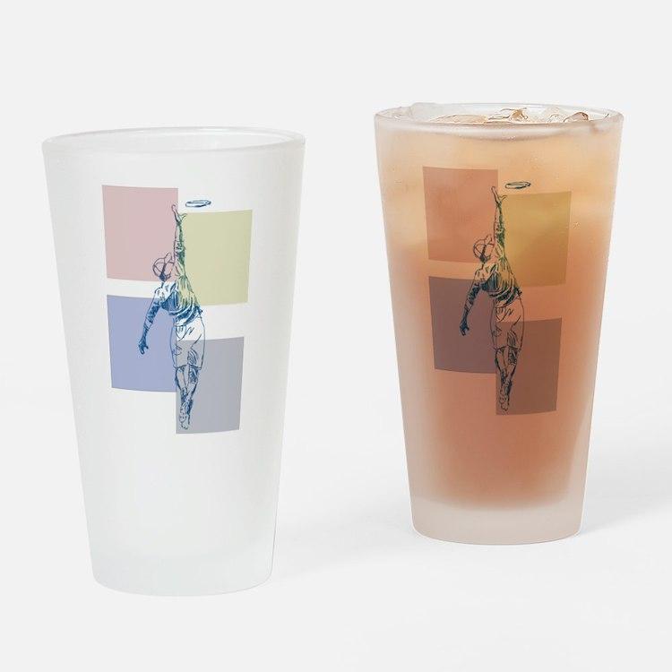 SketchySky with Blocks Drinking Glass