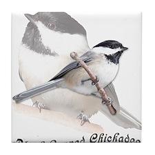 Cute Backyard birds Tile Coaster