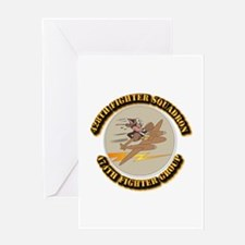 AAC - 428th FS - 474th FG Greeting Card