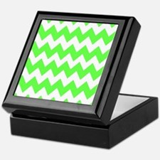 Lime Green Chevron Keepsake Box