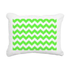 Lime Green Chevron Rectangular Canvas Pillow
