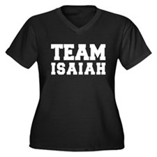 TEAM ISAIAH Women's Plus Size V-Neck Dark T-Shirt