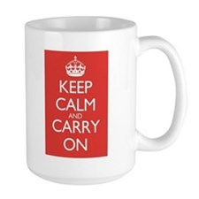 Coffee MugDouble Red Keep Calm and Carry On Mugs