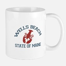 Wells Beach ME - Lobster Design. Mug