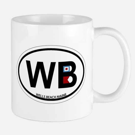 Wells Beach ME - Oval Design. Mug