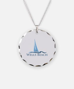 Wells Beach MA - Sailing Design. Necklace
