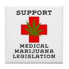 medical marijuana legalization Tile Coaster