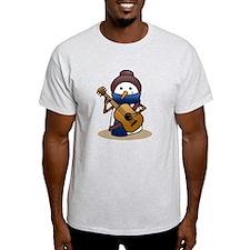 Snowman with Guitar T-Shirt