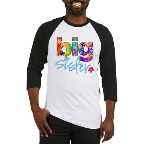 big sister t-shirt flower Baseball Jersey