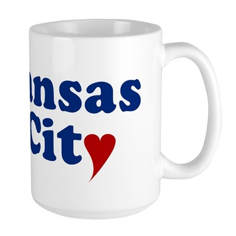 Kansas City with Heart Large Mug