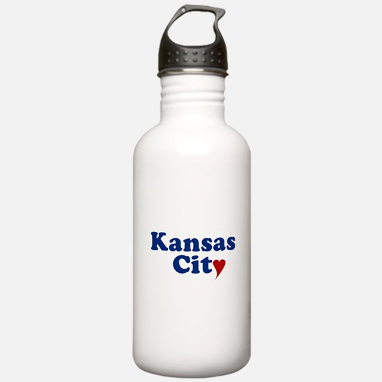 Kansas City with Heart Water Bottle