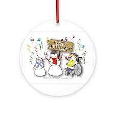 Cute Wheelchair Ornament (Round)