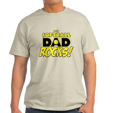 This Softball Dad Rocks copy.png Light T-Shirt