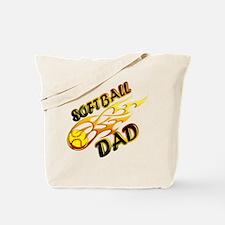 Softball Dad (flame) copy.png Tote Bag
