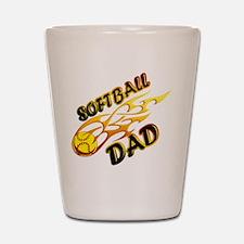 Softball Dad (flame) copy.png Shot Glass
