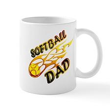 Softball Dad (flame) copy.png Mug