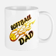 Softball Dad (flame) copy.png Mug