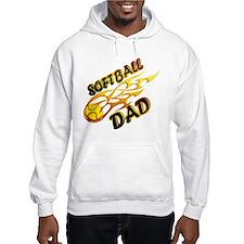 Softball Dad (flame) copy.png Hoodie