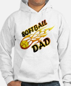 Softball Dad (flame) copy.png Hoodie