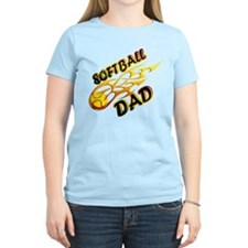 Softball Dad (flame) copy.png T-Shirt