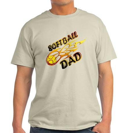 Softball Dad (flame) copy.png Light T-Shirt