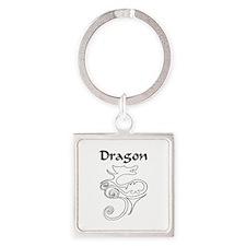 Tanya Dragon Square Keychain