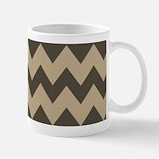 Dark Brown and Tan Chevron Mug