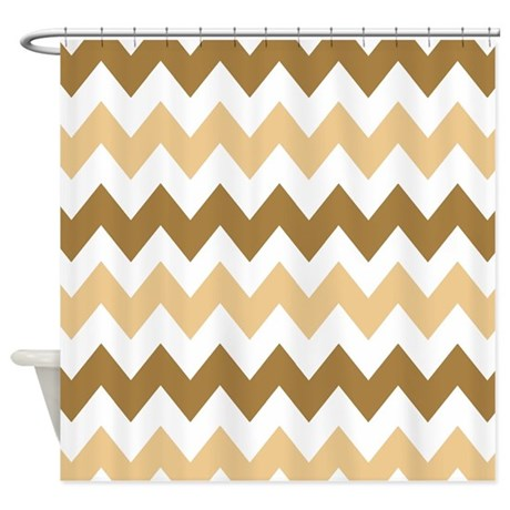 Brown And Tan Chevron Shower Curtain By Chevroncitystripes