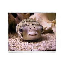 Helaine's Blowfish (Pufferfish ) Throw Blanket