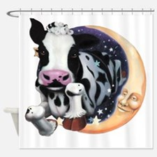 Cow Jump Over the Moon Shower Curtain