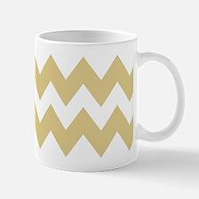 Beige and White Chevron Mug