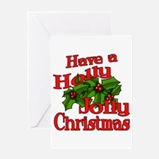 Holly Jolly Xmas Greeting Card