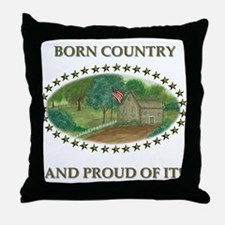 Born Country Throw Pillow