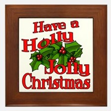 Holly Jolly Xmas Framed Tile