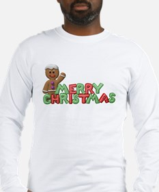 Gingerbread Man Christmas Long Sleeve T-Shirt