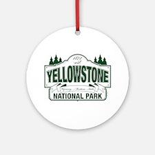 Yellowstone Green Design Ornament (Round)