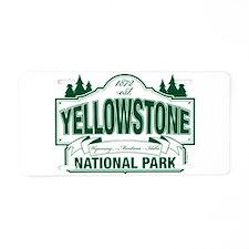 Green Yellowstone Aluminum License Plate