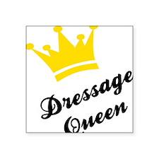 "dressage Square Sticker 3"" x 3"""