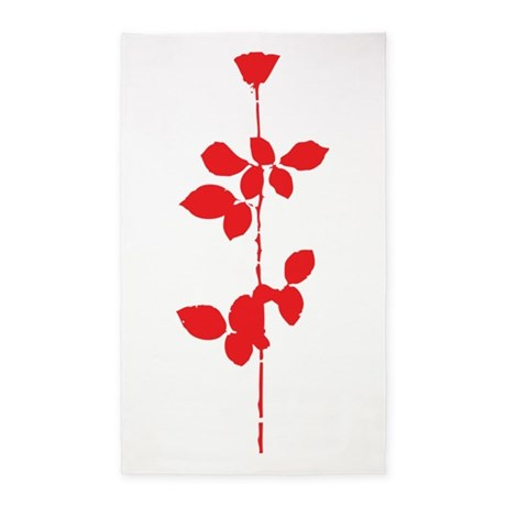 Depeche Mode Rose 3'x5' Area Rug
