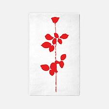 Depeche Mode Rose 3'x5' Area Rug