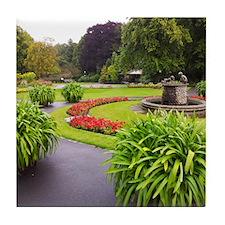 English Valley Gardens Tile Coaster