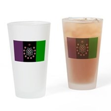 the Flag of the Nation Of Thelema Drinking Glass