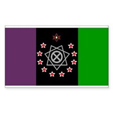 the Flag of the Nation Of Thelema Decal