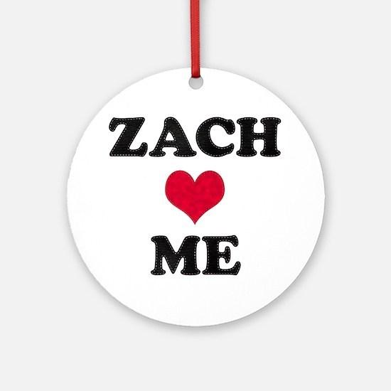 Zach Loves Me Round Ornament