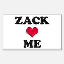 Zack Loves Me Rectangle Decal