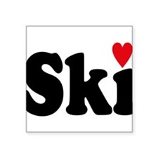 "ski Square Sticker 3"" x 3"""