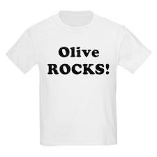 Olive Rocks! Kids T-Shirt