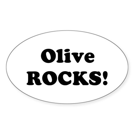 Olive Rocks! Oval Sticker