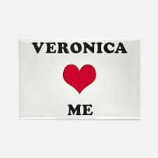 Veronica Loves Me Rectangle Magnet