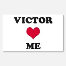 Victor Loves Me Rectangle Decal